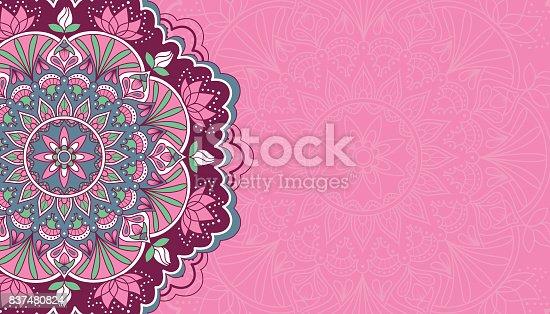 Fondo Rosa Horizontal Con Mandala