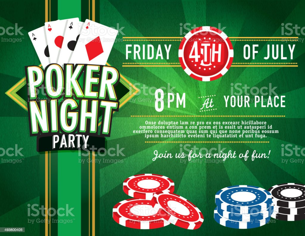 Horizontal poker party and casino game night invitation design horizontal poker party and casino game night invitation design template royalty free horizontal poker party stopboris Images