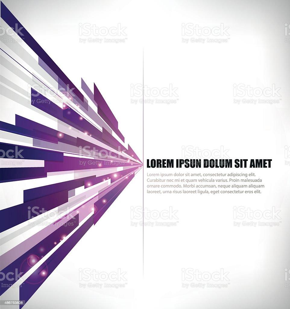 horizontal purple lines in perspective vector art illustration