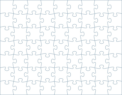 Horizontal puzzle template with space for your copy.