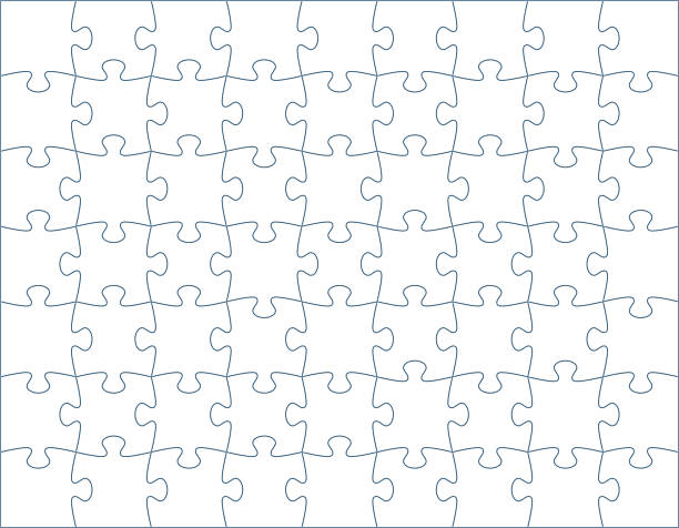 horizontal puzzle template - puzzle stock-grafiken, -clipart, -cartoons und -symbole