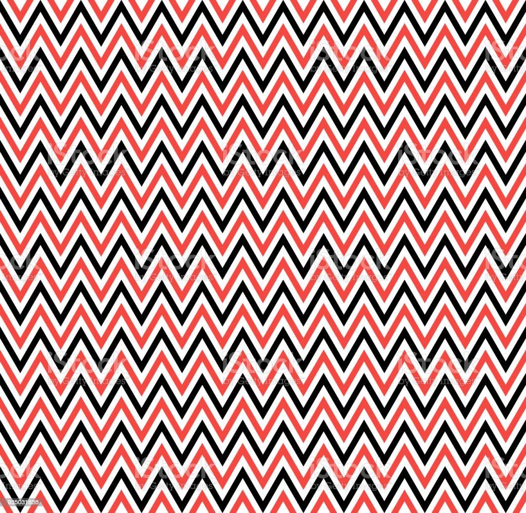 Querstreifen Rote Zickzackmuster Geometrische Sich Wiederholendes ...