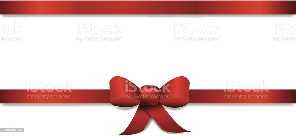 Horizontal Ribbon Title Banner vector art illustration