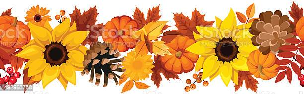 Horizontal seamless background with pumpkins sunflowers and autumn vector id492963758?b=1&k=6&m=492963758&s=612x612&h=z7o0s8v0uc3zp eferhk 178vuuvjvoppdfs h8qtbi=