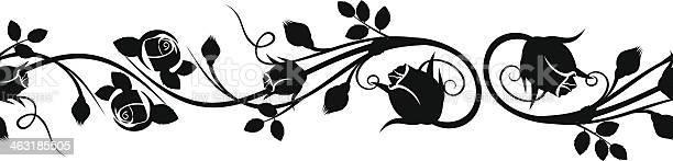 Horizontal seamless vignette with rose buds vector illustration vector id463185505?b=1&k=6&m=463185505&s=612x612&h=rcgujfvc0tjrigk256zofb6fpzkvkigksyp68jvn234=