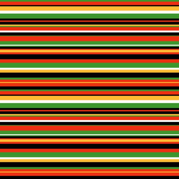 horizontal stripes seamless pattern - kwanzaa stock illustrations