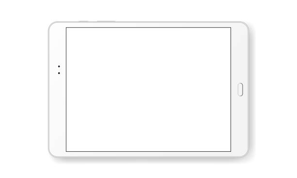 Tablette horizontale mock up isolé sur fond blanc - Illustration vectorielle