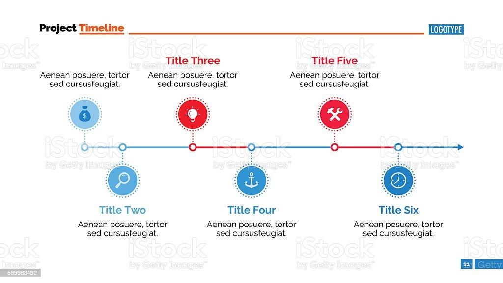 Horizontal Timeline Chart Slide Template Stock Vector Art More - Timeline chart template