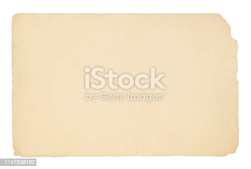 A horizontal vector illustration of a plain blank beige colored ripped paper