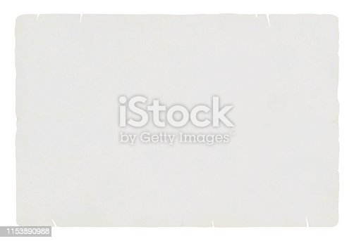 A horizontal vector illustration of a plain blank grey colored torn paper