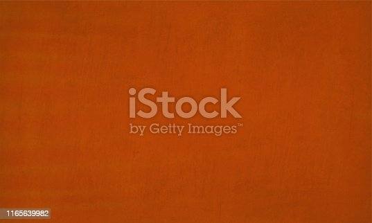 istock Horizontal vector Illustration of an empty rust, orange colored grungy textured background 1165639982
