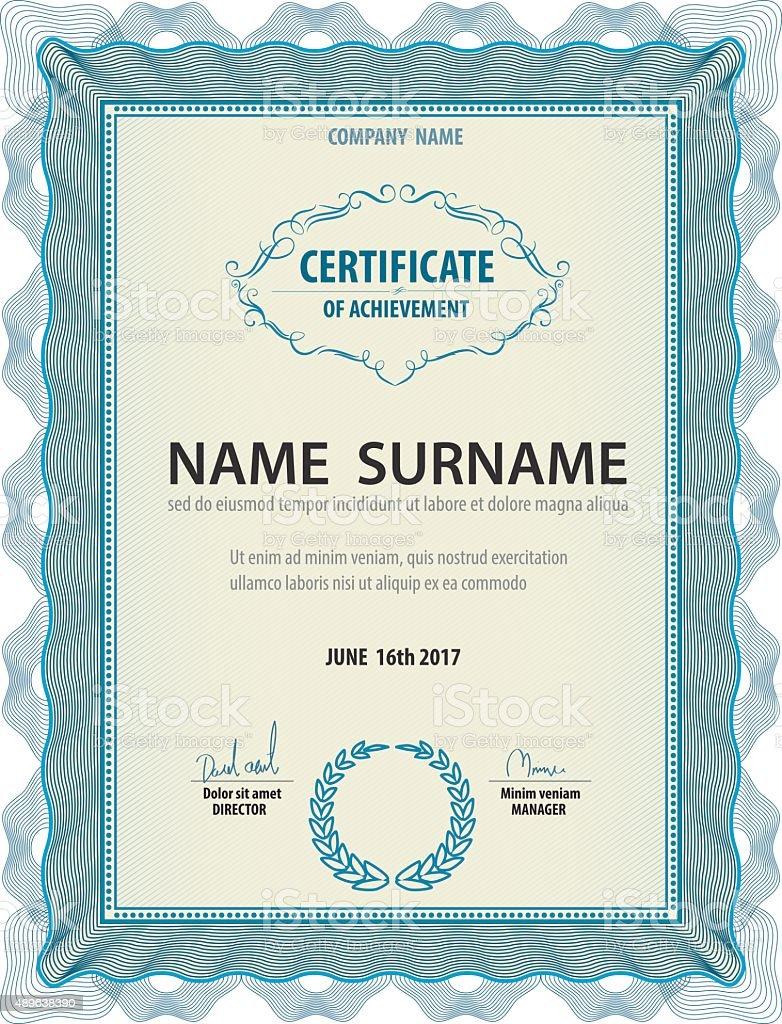 Horizontale Vintage Zertifikat Vorlage Diplom Letter Größe Lay ...
