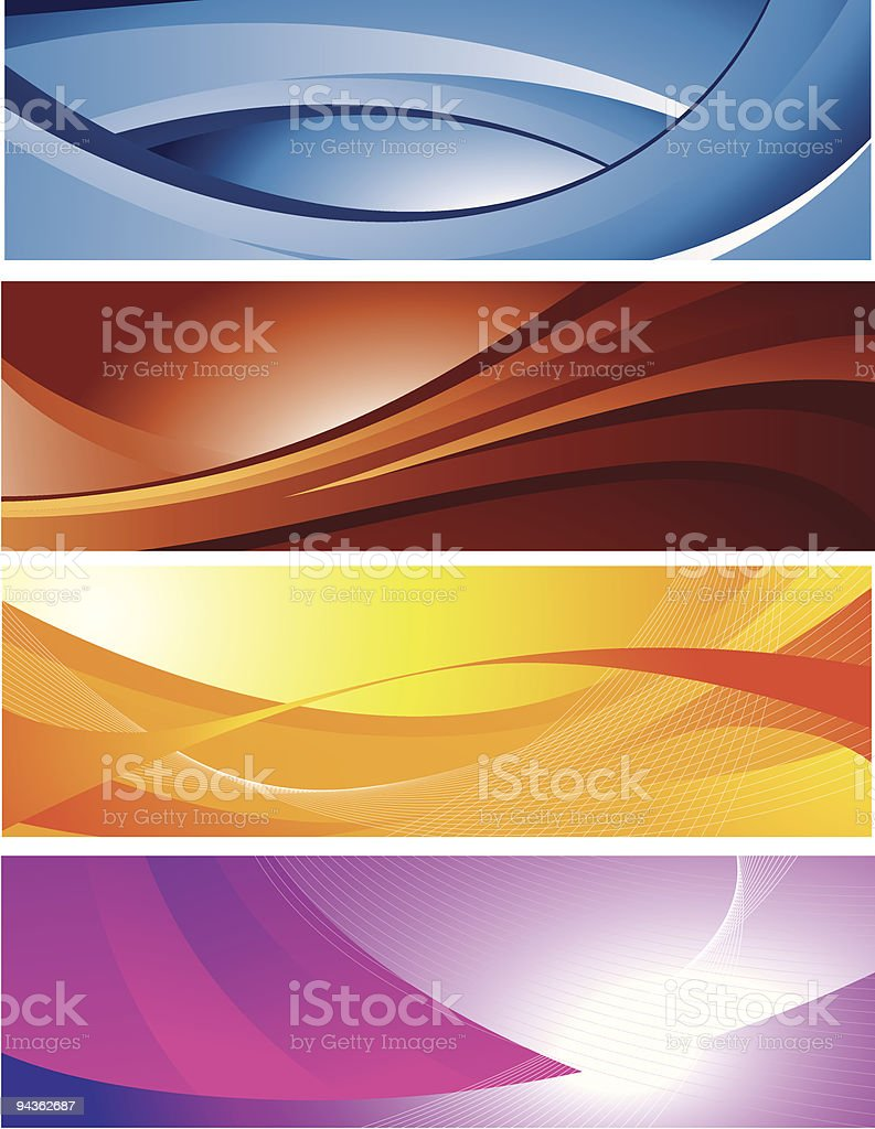 Horizontal Wave Backgrounds royalty-free stock vector art