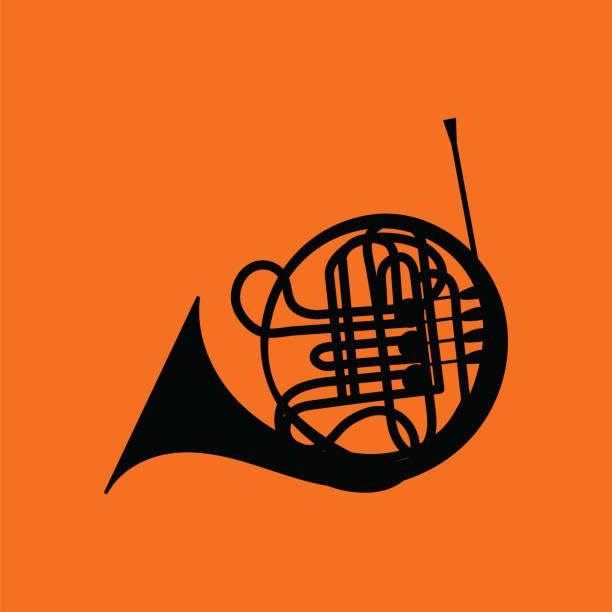 horn icon - waltornista stock illustrations