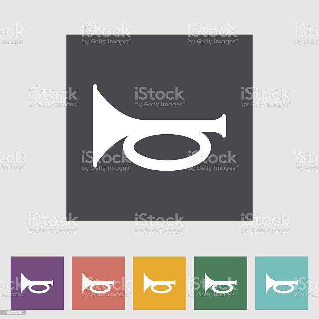 Horn icon. vector art illustration