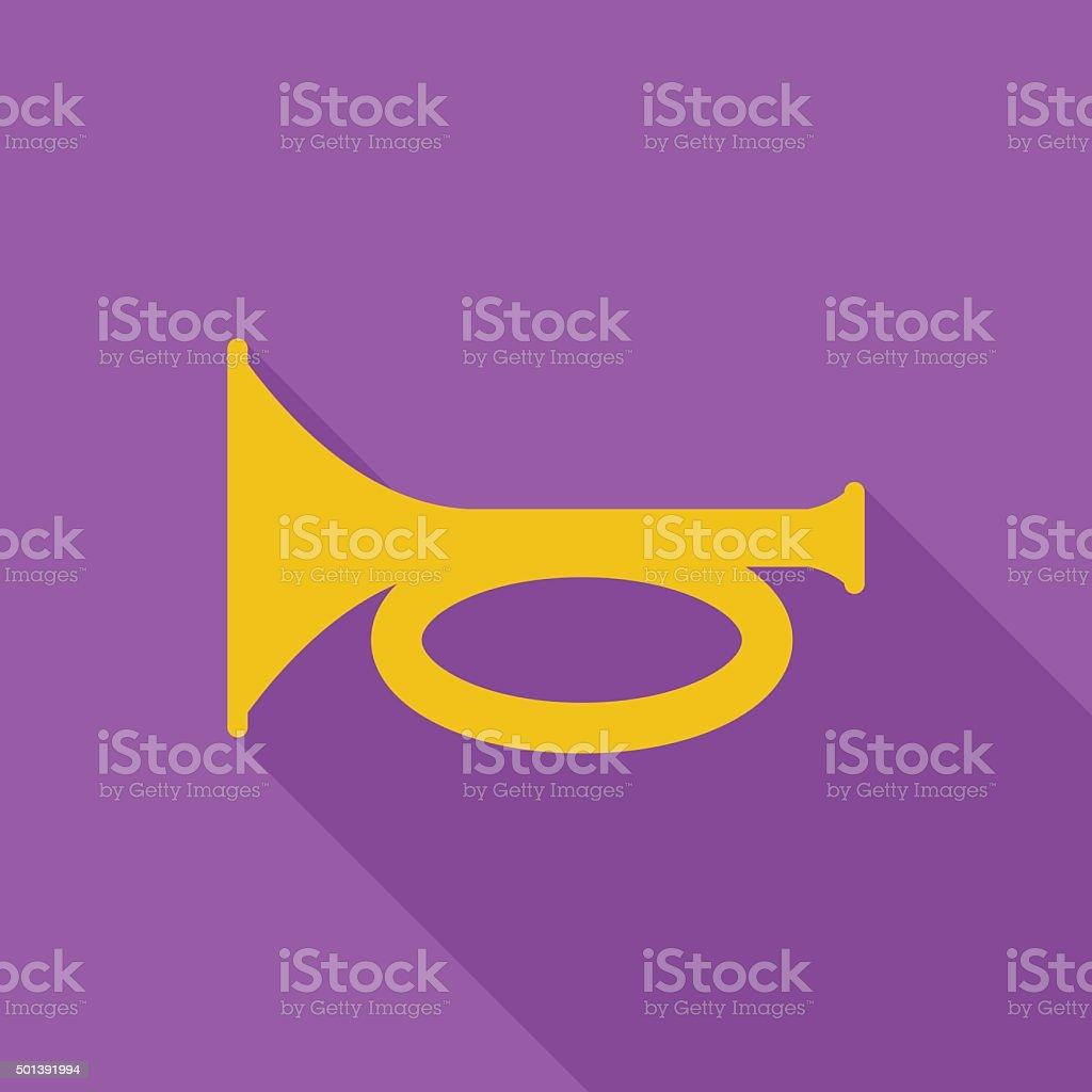 Horn icon vector art illustration