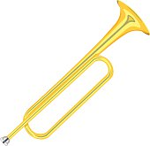 horn trumpet vector illustration isolated on white background