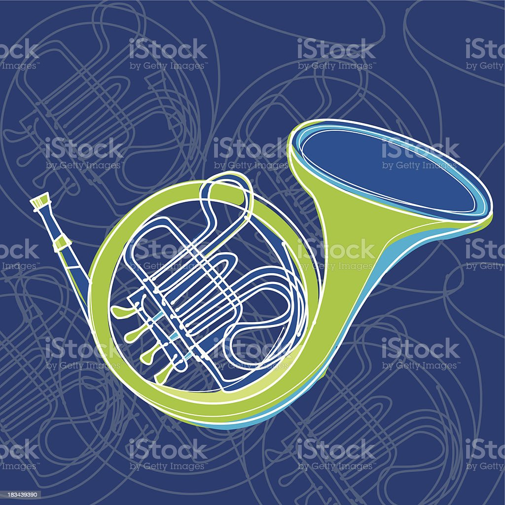 horn royalty-free stock vector art