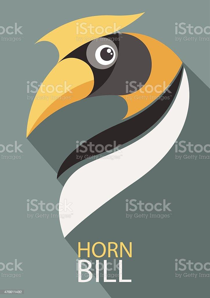 Hornbill vector vector art illustration