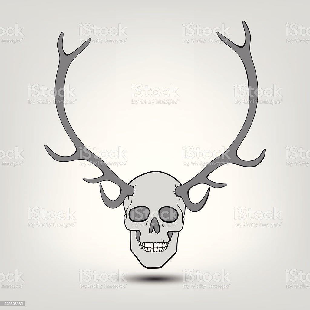 Ilustración de Astado Cráneo Humano y más banco de imágenes de ...
