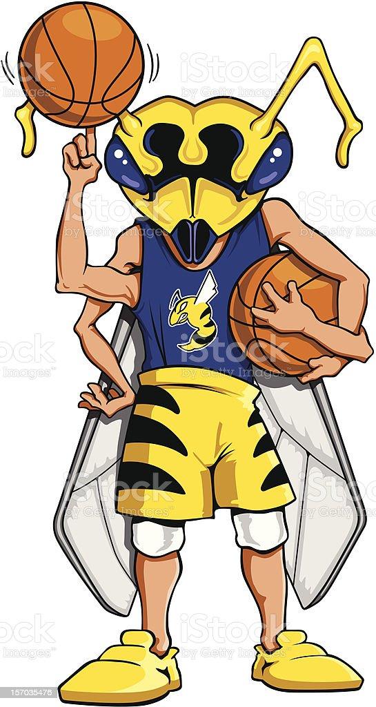 Hornet Basketball Mascot royalty-free stock vector art
