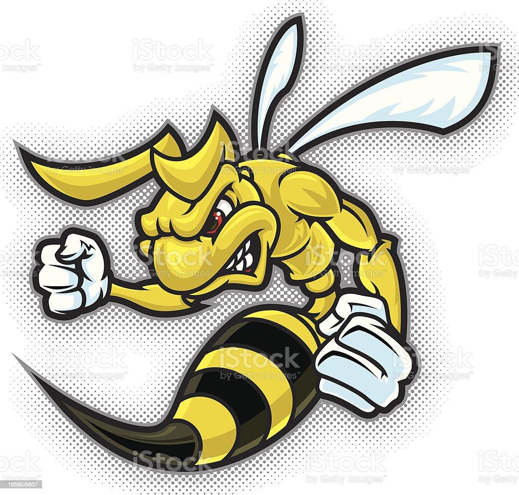 Hornet Full Body vector art illustration