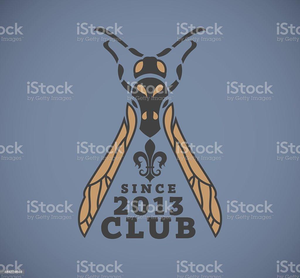 hornet symbol and logo club vector art illustration