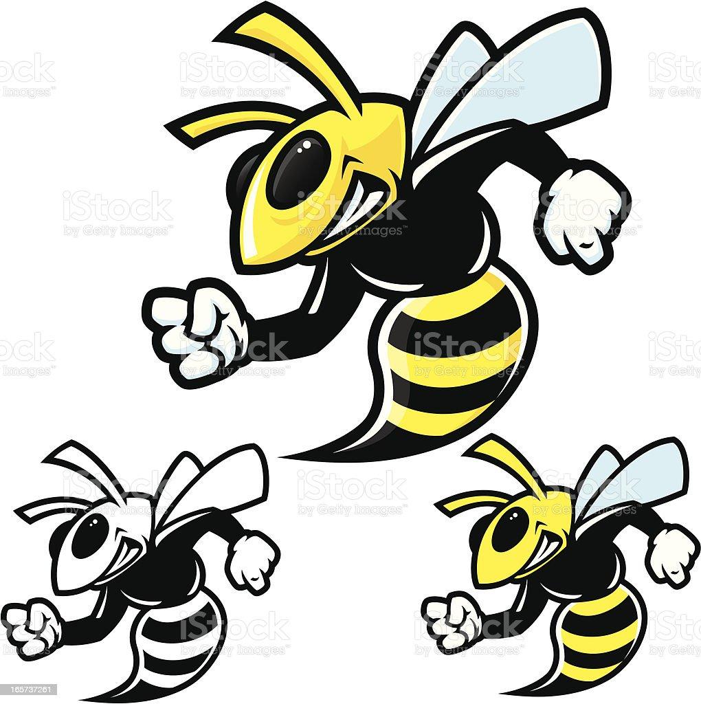 Hornet Traditional Stance vector art illustration