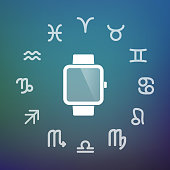 Horoscope circle with a smart watch
