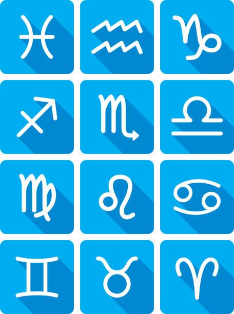 illustrations, cliparts, dessins animés et icônes de horoscope icon set de silhouette - pisces zodiac