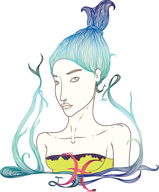 illustrations, cliparts, dessins animés et icônes de horoscope : tm - pisces zodiac