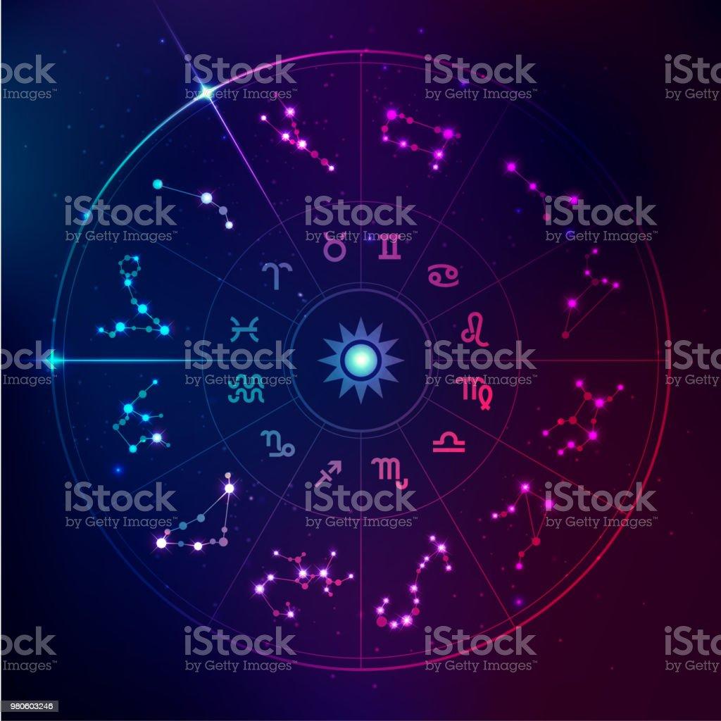 horoscope signs - ilustração de arte vetorial