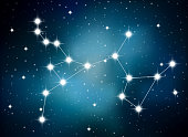 Horoscope zodiac sign of the sagittarius on the astrological space