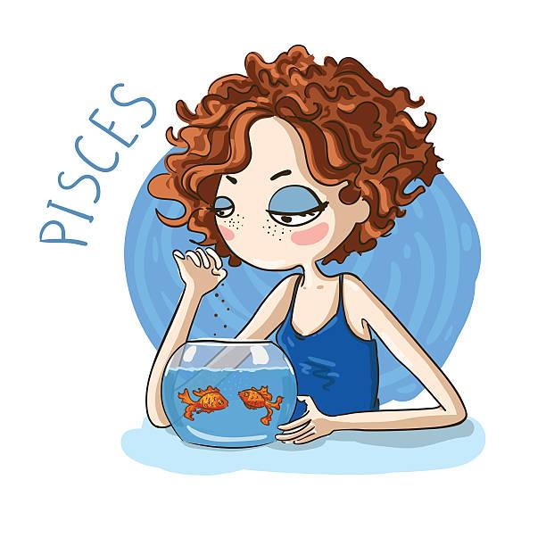 illustrations, cliparts, dessins animés et icônes de horoscope. signes du zodiaque-signe du poisson - pisces zodiac