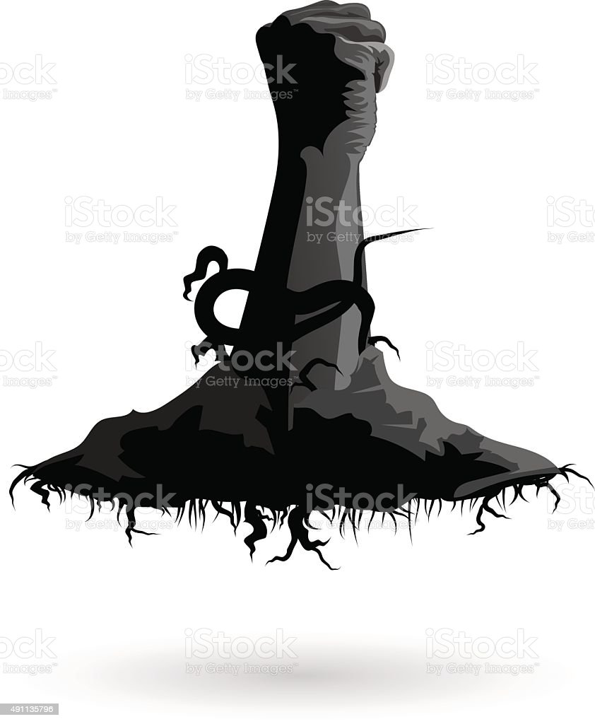 horror hand vector art illustration