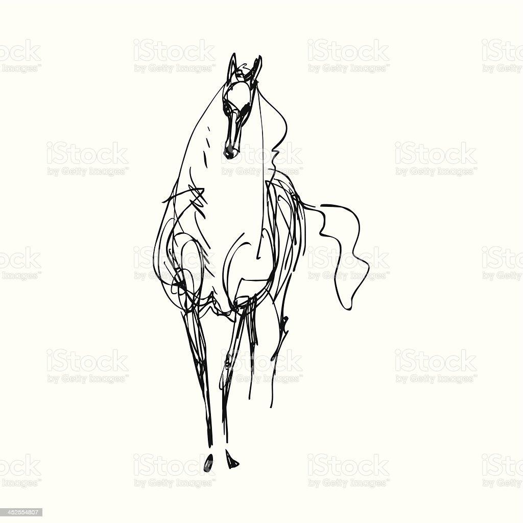 horse 03 vector art illustration