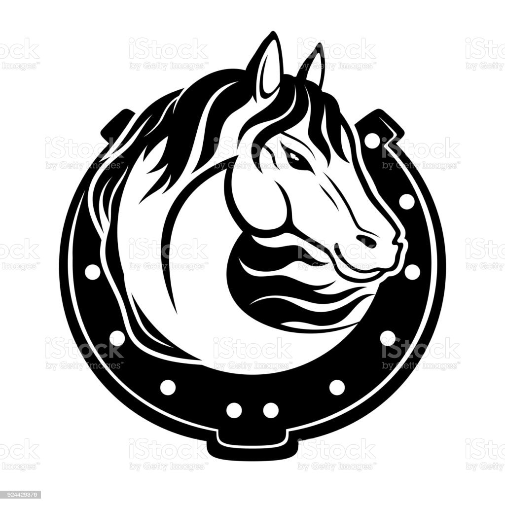 Horse And Horseshoe Royalty Free Stock Vector Art Amp More