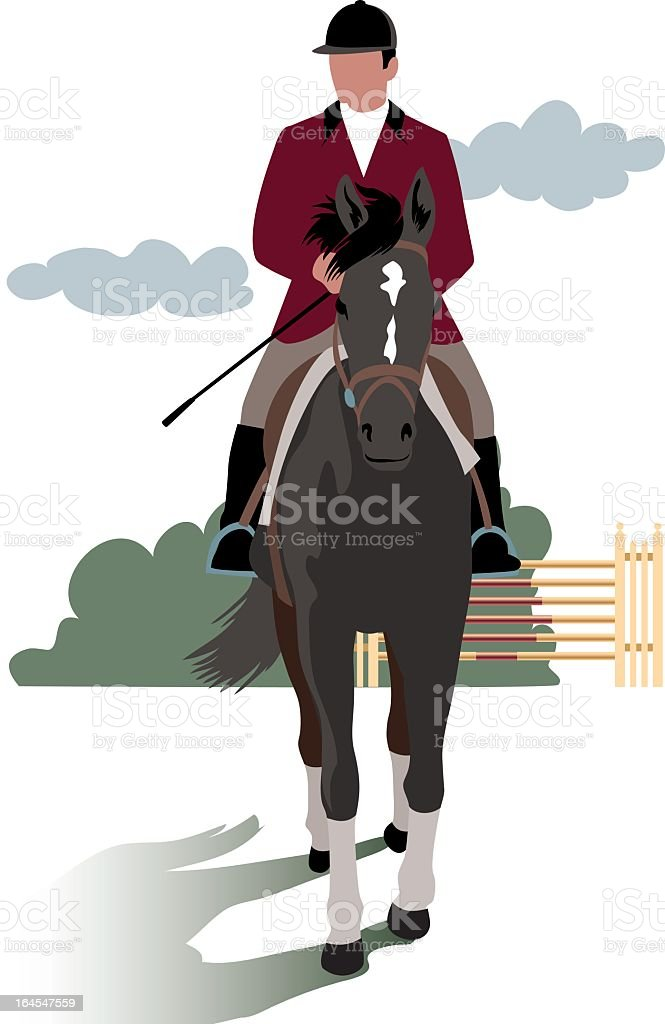 Horse and obstacle race royalty-free horse and obstacle race stock vector art & more images of animal