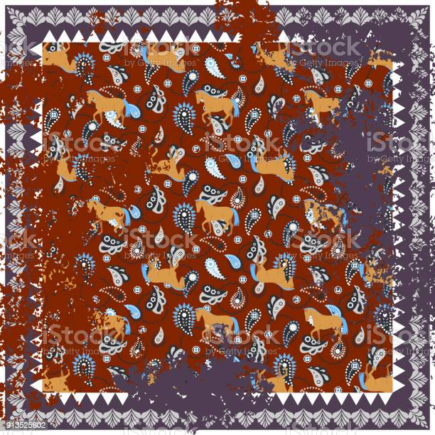 Horse and paisley rough rug vector square design vector id913525602?b=1&k=6&m=913525602&s=612x612&h=u4kbop3ppzessag5xygrkgm968 kxu53wvaaunmqp7u=