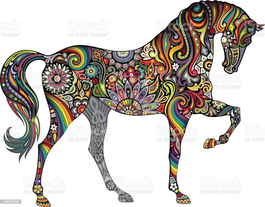 Horse and Rainbow royalty-free stock vector art