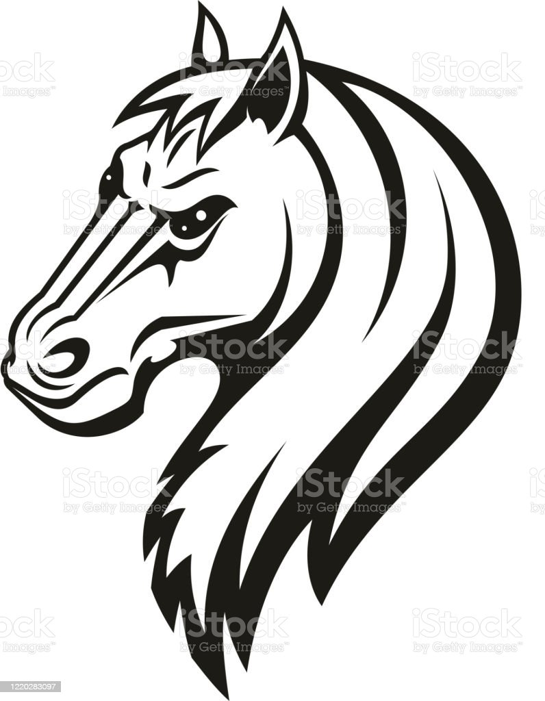 Horse Animal Tribal Tattoo Or Racing Sport Mascot Stock Illustration Download Image Now Istock