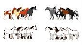 Horse banner set