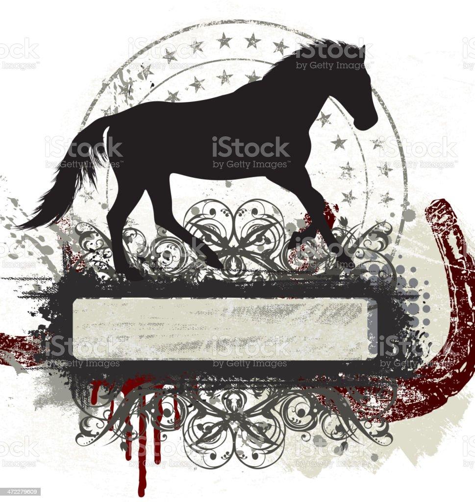 Horse Banner royalty-free stock vector art