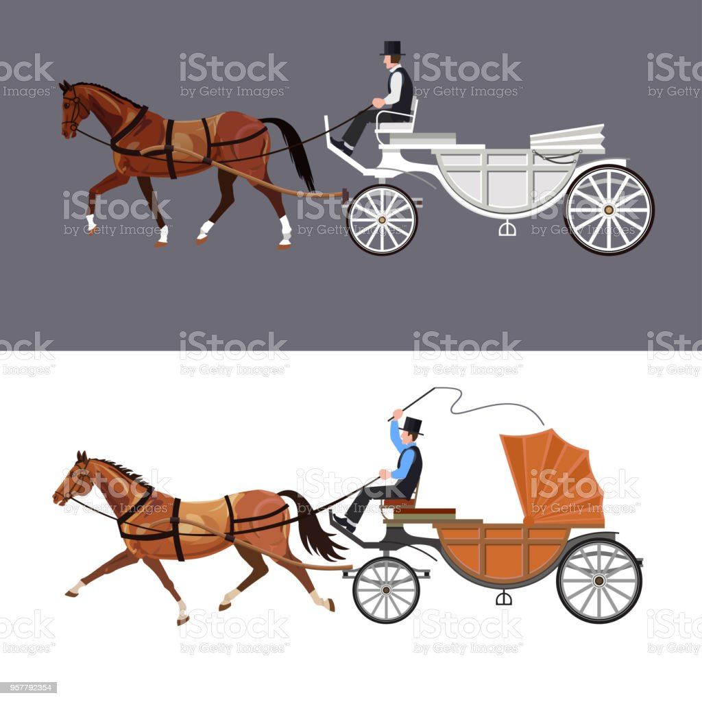 Horse Carriage Vector Stock Illustration Download Image Now Istock