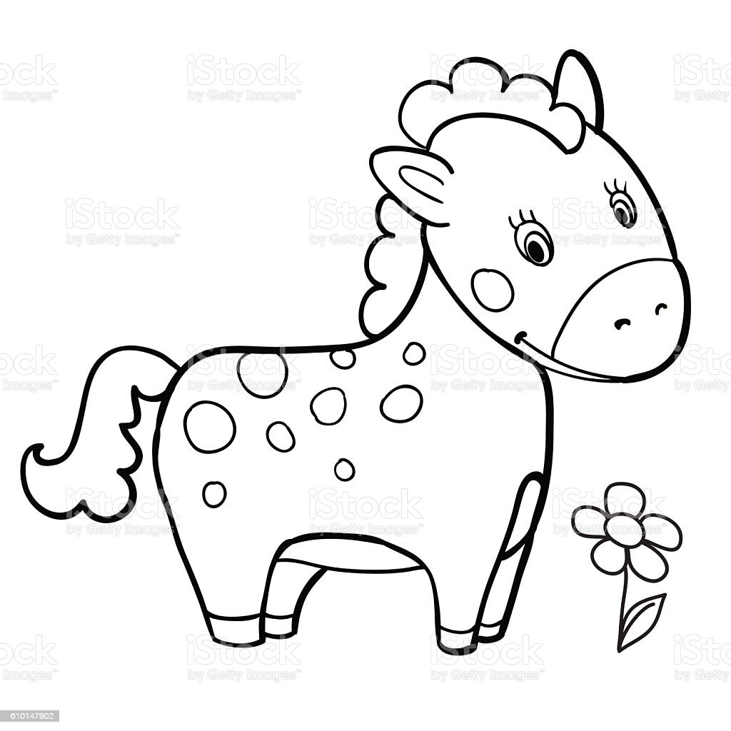 Carousel Printable Horse Coloring Pages For Adults