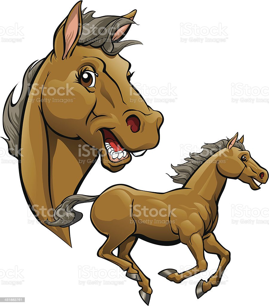Horse Cartoon Stock Illustration Download Image Now Istock