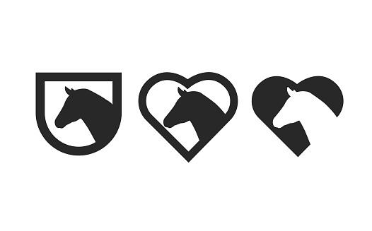 Horse club lovers logo design.