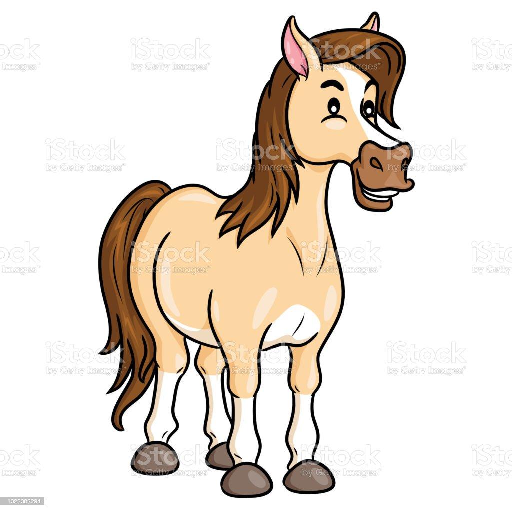 Horse Cute Cartoon Stock Illustration Download Image Now Istock