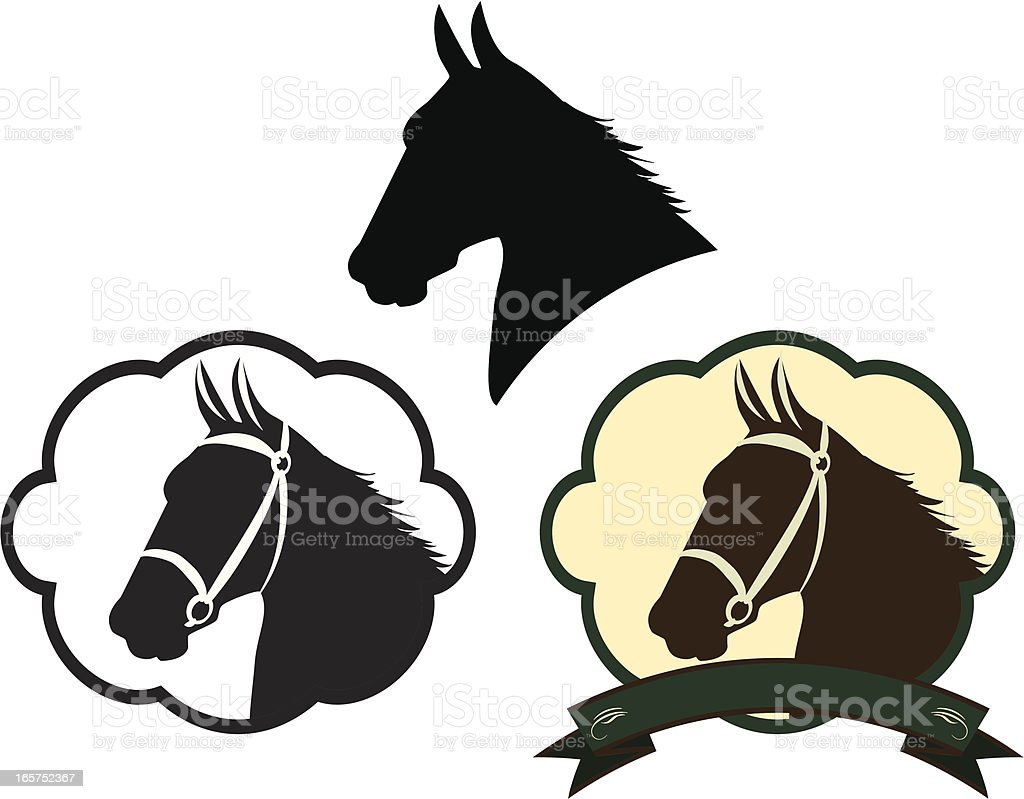Horse Design Elements vector art illustration