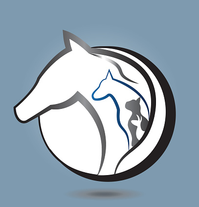 Download Horse Dog And Cat Animal Lovers Sticker Icon Vector Stock ...